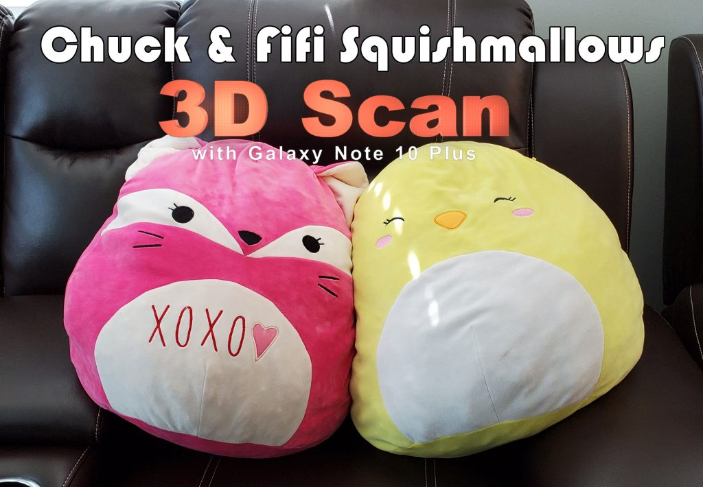 Fifi and Chuck Squishmallows 3D Scan with Galaxy Note 10 Plus